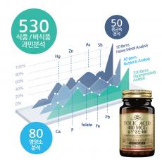 솔가 엽산 + 식품첨가물외/영양소/중금속(660항목)
